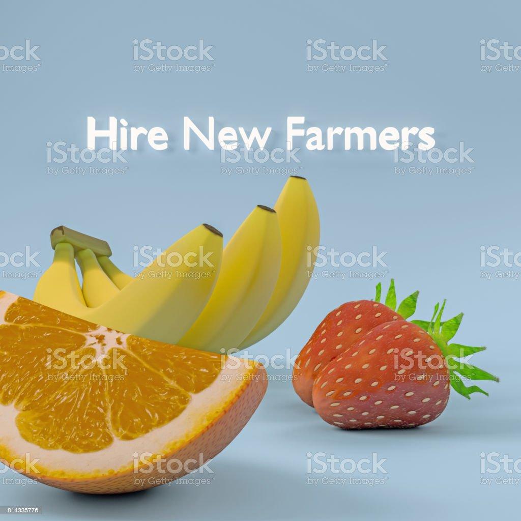 Hire new farmers stock photo