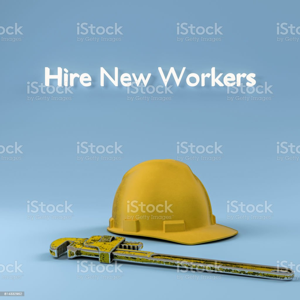 hire new workers stock photo