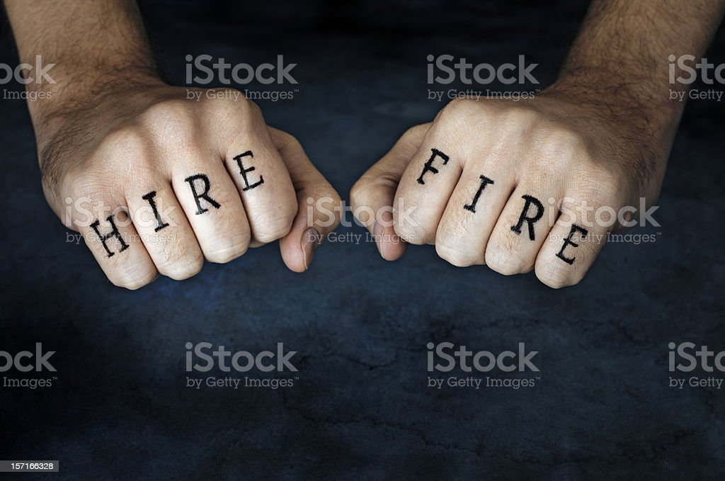 Hire or Fire? stock photo