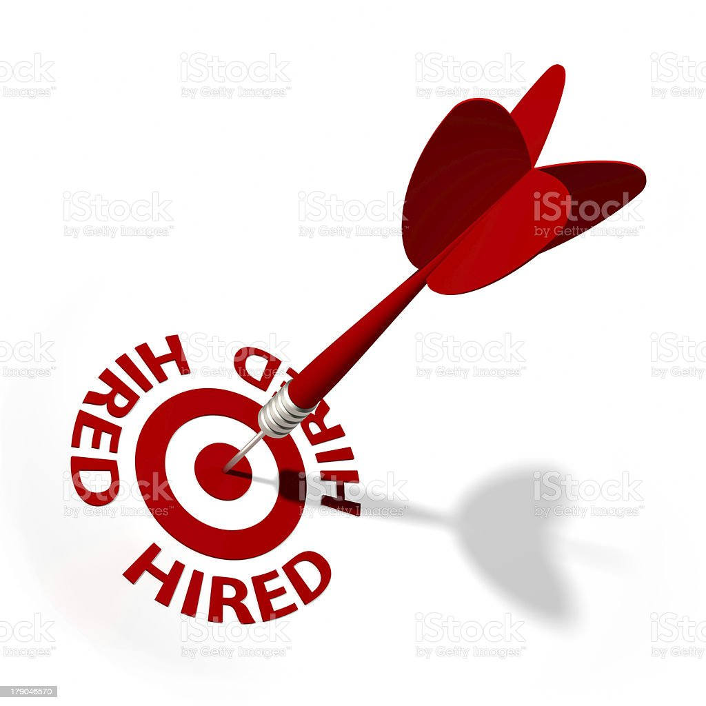 Hired Target royalty-free stock photo
