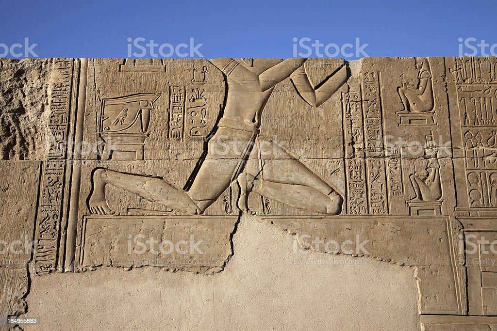 Hireoglyphics in Temple stock photo