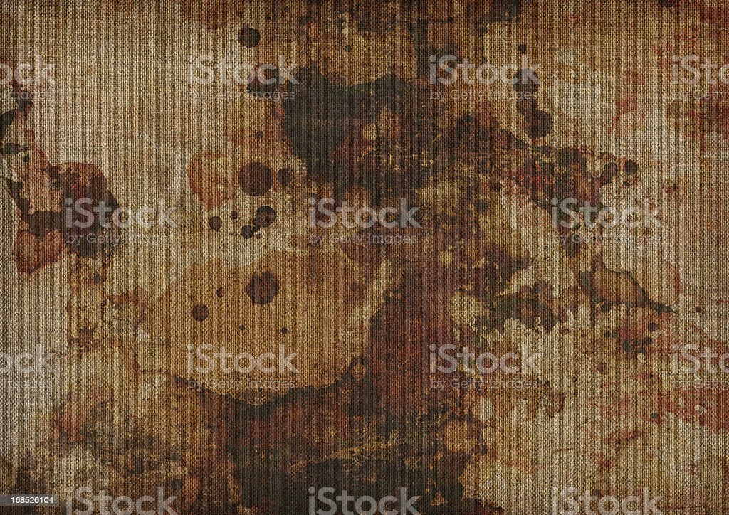 Hi-Res Abstract Acrylic and Oil Painting on Primed Linen Canvas royalty-free stock photo