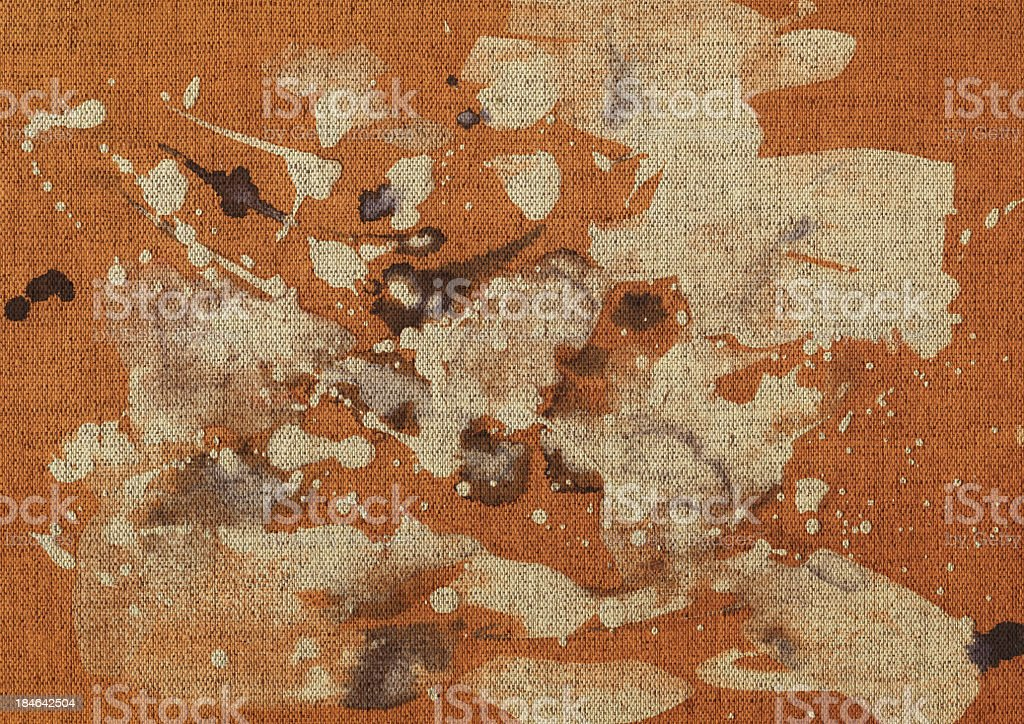 Hi-Res Abstract Acrylic Painting on Unprimed Linen Canvas stock photo