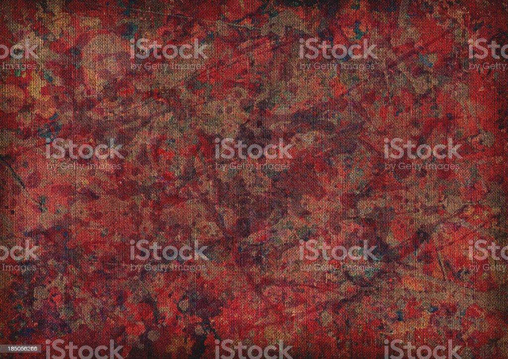 Hi-Res Acrylic Painting On Unprimed Linen Duck Coarse Grain Canvas stock photo