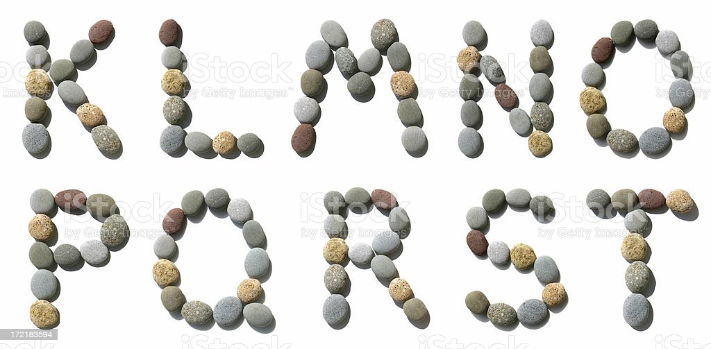 Hi-res alphabet made of pebble - 2 royalty-free stock photo