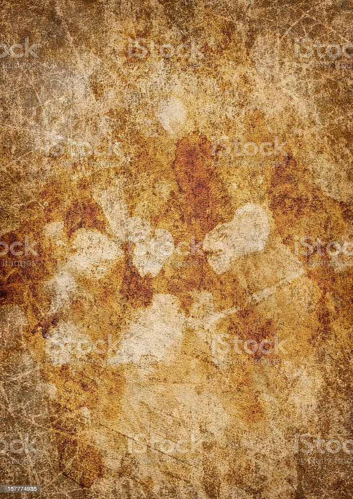 Hi-Res Antique Animal Skin Parchment Wizened Mottled Vignetted Grunge Texture royalty-free stock photo
