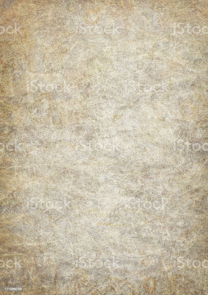 Hi-Res Antique Animal Skin Parchment Wizened Mottled Vignetted Grunge Texture stock photo