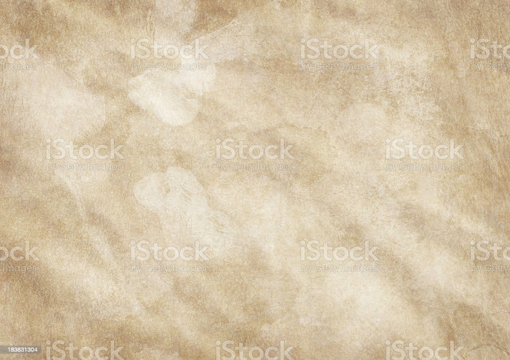 Hi-Res Antique Animal Skin Parchment Wrinkled Dappled Vignetted Grunge Texture stock photo
