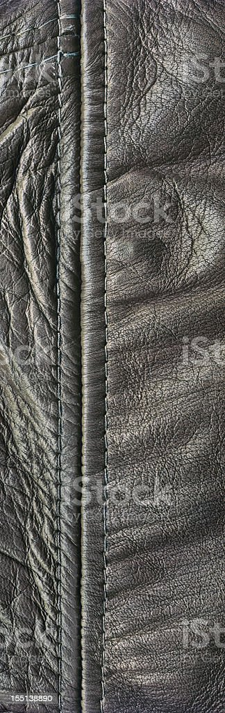 Hi-Res Antique Black Veal Nappa Leather Patchwork Wrinkled Grunge Texture stock photo