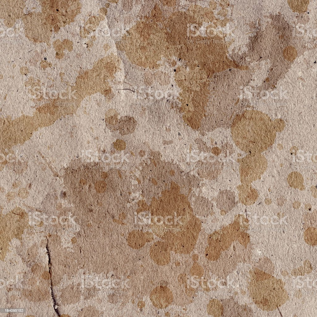 Hi-Res Antique Brown Kraft Paper Crumpled Ink Blotted Grunge Texture royalty-free stock photo