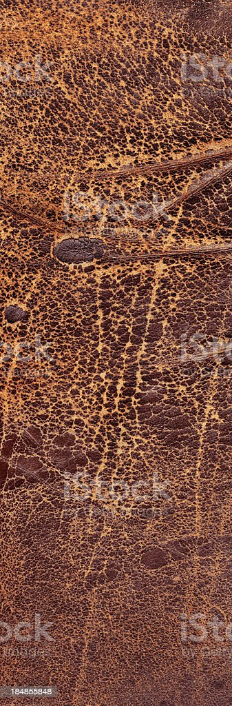 Hi-Res Antique Brown Leather Weathered Crumpled Wizened Flaky Grunge Texture royalty-free stock photo