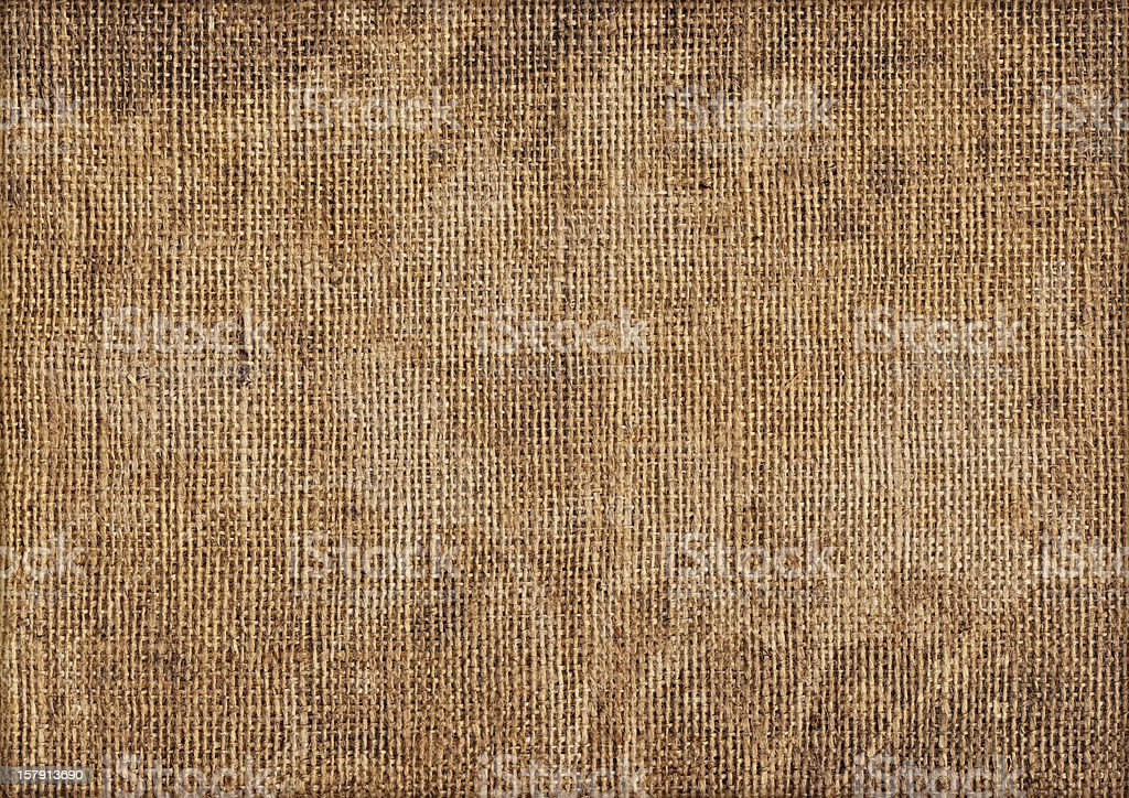 Hi-Res Antique Burlap Canvas Mottled Blotted Grunge Texture royalty-free stock photo