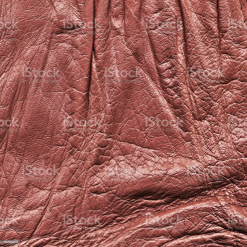 Hi-Res Antique Maroon Red Leather Crumpled Wizened Grunge Texture royalty-free stock photo