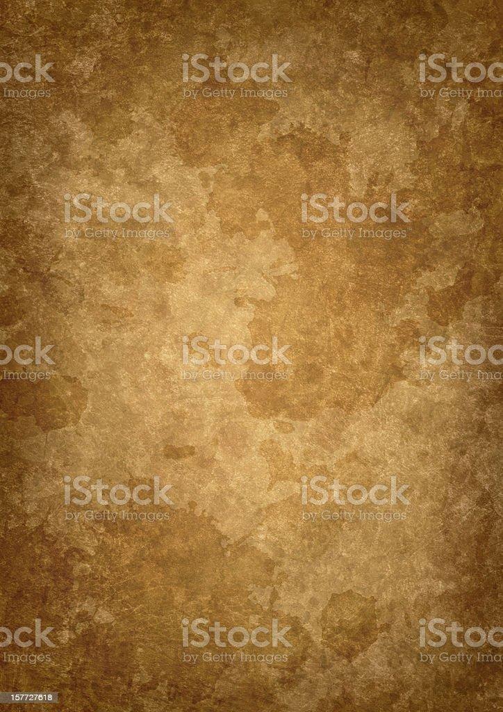 Hi-Res Antique Parchment Mottled Vignette Grunge Texture royalty-free stock photo
