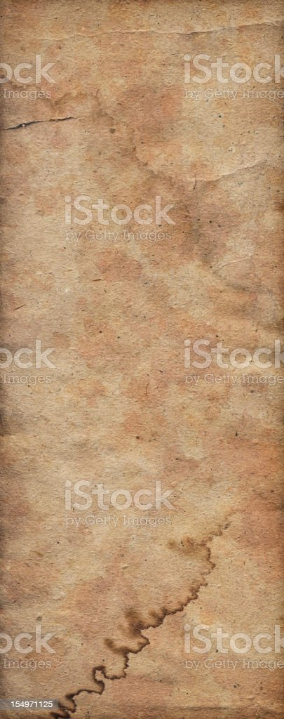 Hi-Res Antique Recycled Brown Kraft Paper Dappled Crumpled Grunge Texture royalty-free stock photo