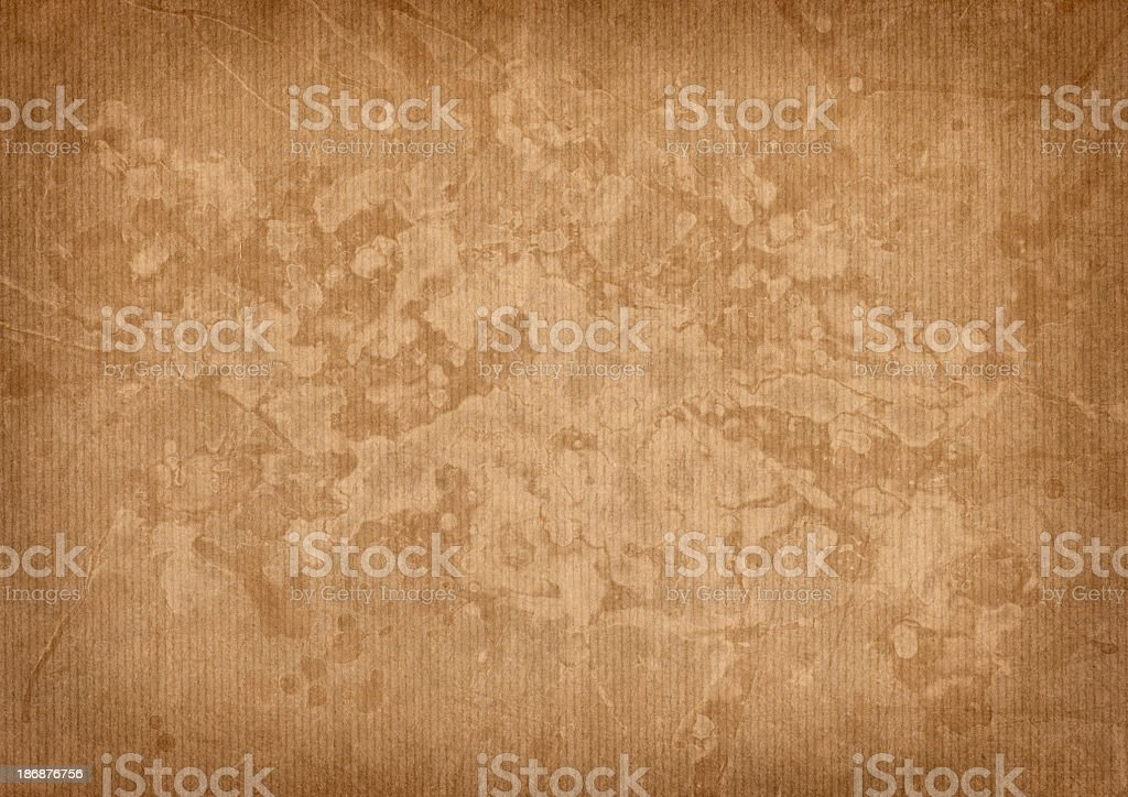 Hi-Res Antique Wrapping Brown Paper Mottled Blotted Vignette Grunge Texture stock photo