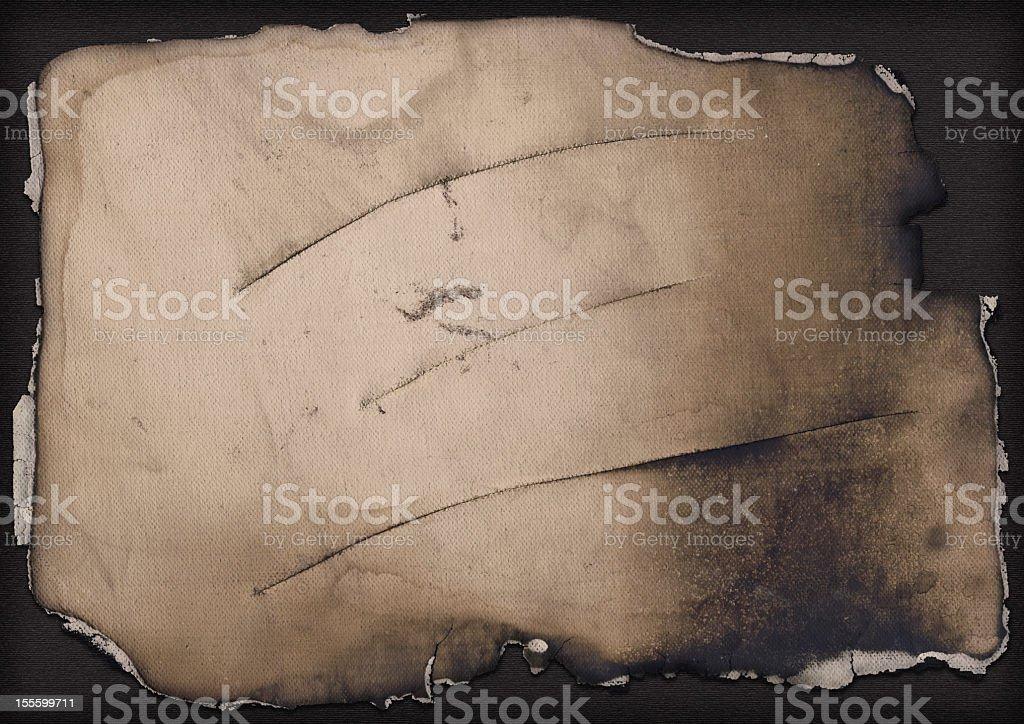 Hi-Res Artist Cotton Canvas Cut and Burnt Vignette Grunge Texture stock photo