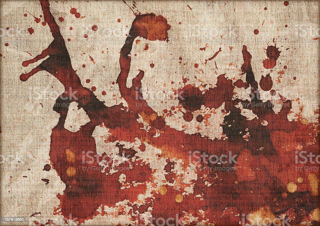 Hi-Res Artist's Antique Linen Canvas Mottled Vignette Grunge Texture stock photo