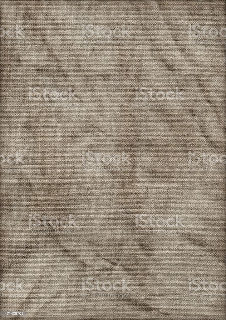 Hi-Res Artist's Linen Duck Canvas Crumpled Stained Vignette Grunge Texture royalty-free stock photo