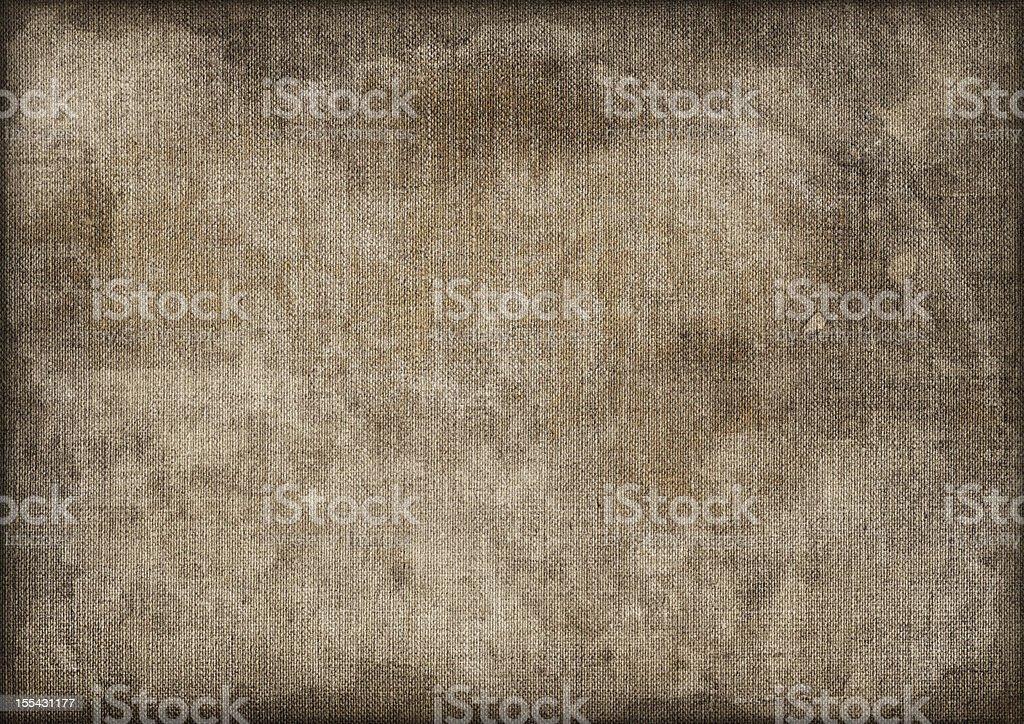 Hi-Res Artist's Linen Duck Canvas Mottled Stained Vignette Grunge Texture stock photo