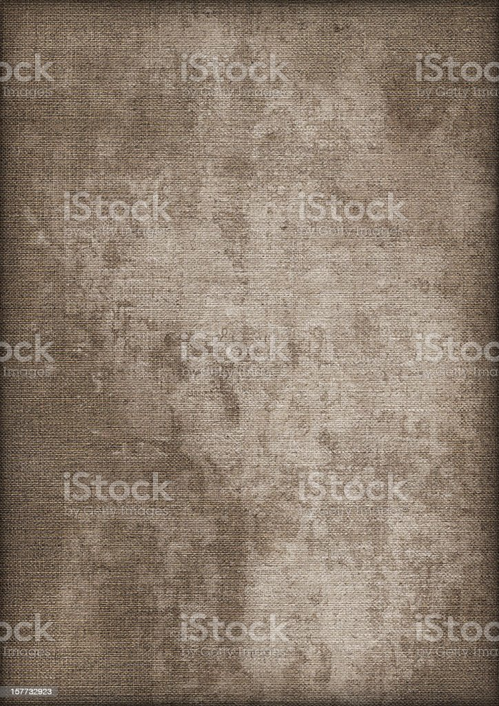 Hi-Res Artist's Linen Duck Canvas Mottled Stained Vignette Grunge Texture royalty-free stock photo
