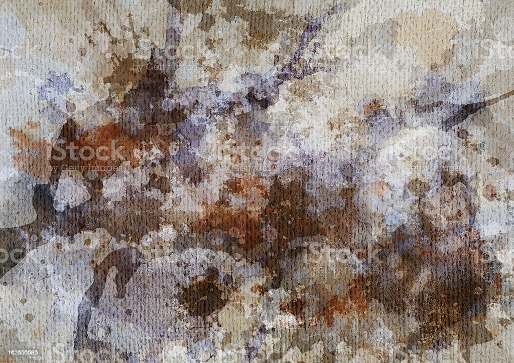Hi-Res Artist's Primed Coarse Grain Jute Canvas Mottled Grunge Texture royalty-free stock photo