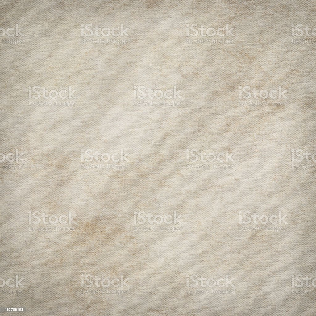 Hi-Res Artist's Primed Cotton Canvas Crumpled Mottled Vignette Grunge Texture royalty-free stock photo