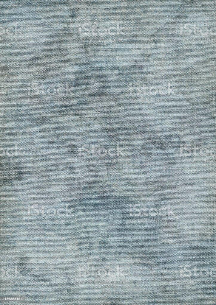 Hi-Res Artist's Primed Linen Canvas Blue Mottled Vignette Grunge Texture royalty-free stock photo