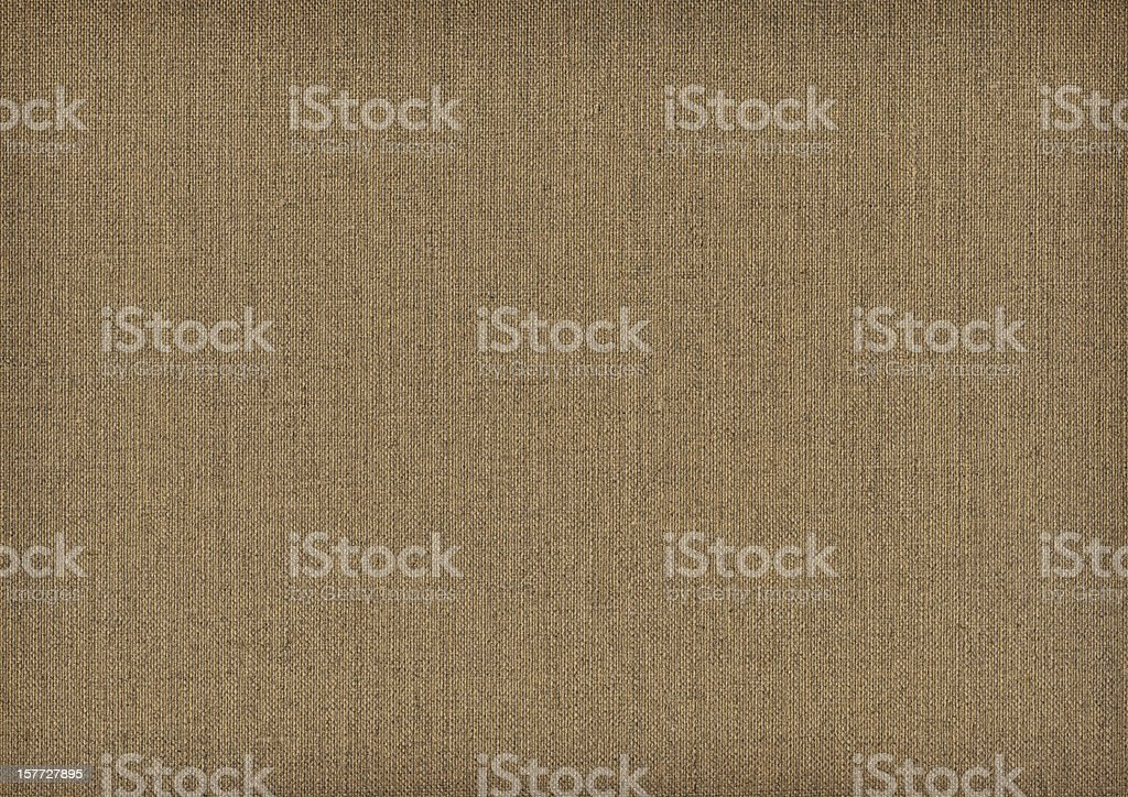 Hi-Res Artist's Primed Linen Duck Canvas Reverse Side Grunge Texture stock photo