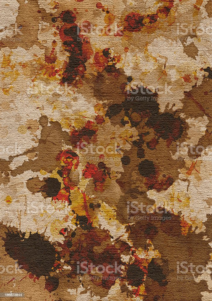 Hi-Res Artist's Unprimed Linen Canvas Mottled Blotted Grunge Texture royalty-free stock photo