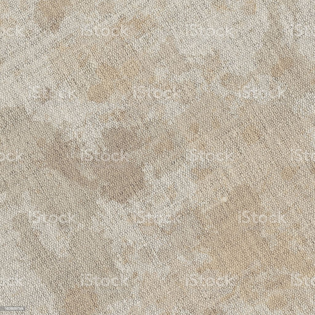 Hi-Res Artist's Unprimed Linen Canvas Sepia Ink Dappled Grunge Texture stock photo