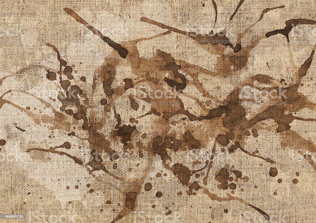Hi-Res Artist's Unprimed Linen Canvas Spilled Mottled Grunge Texture stock photo