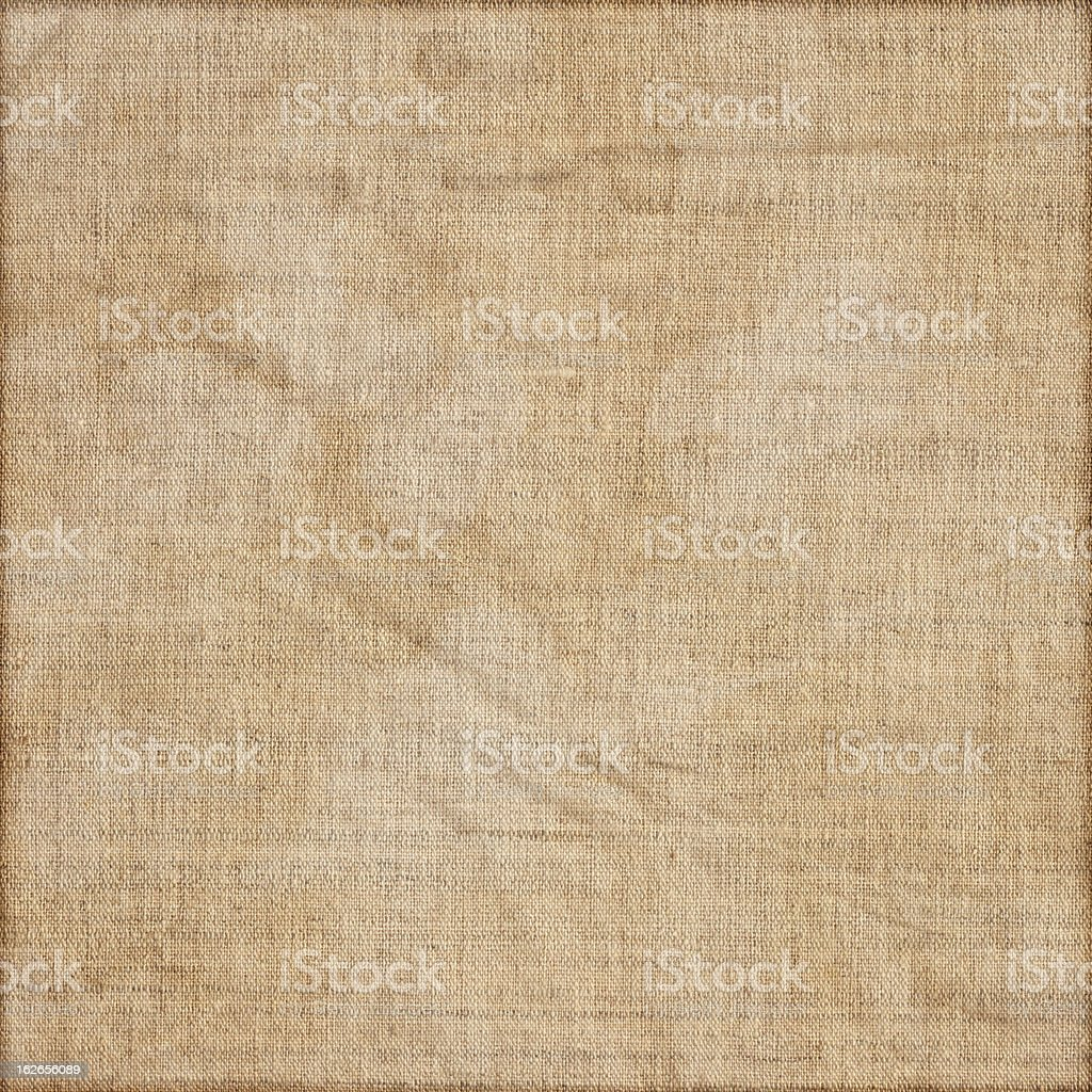 Hi-Res Artist's Unprimed Linen Duck Canvas Mottled Vignetted Grunge Texture royalty-free stock photo