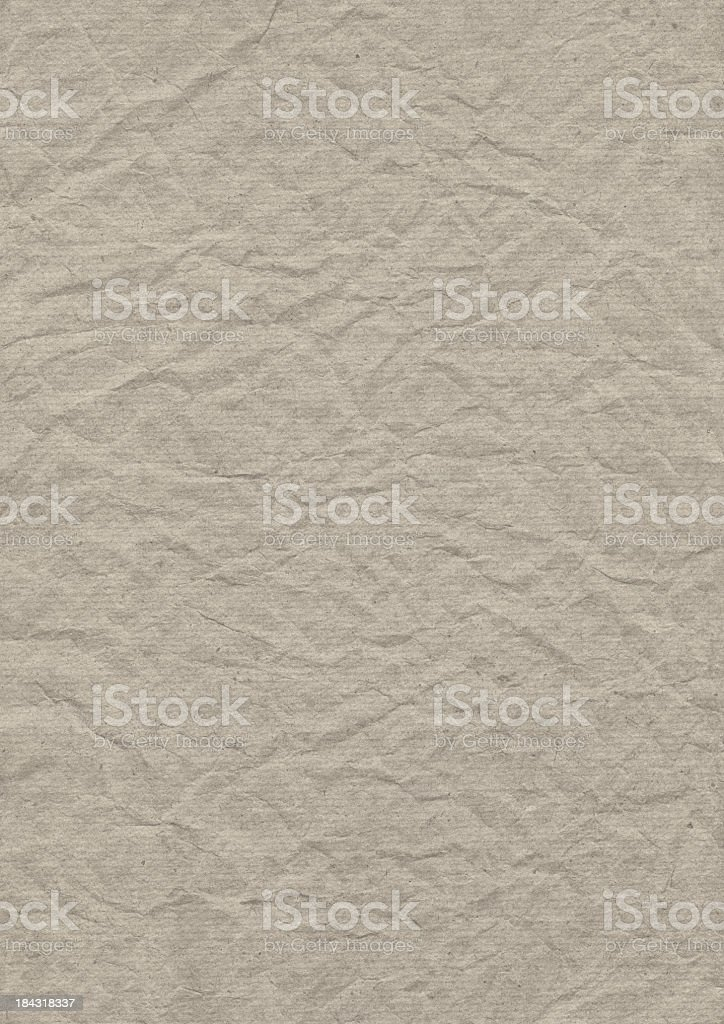 Hi-Res Beige Recycle Striped Wrapping Paper Crushed Crumpled Grunge Texture royalty-free stock photo