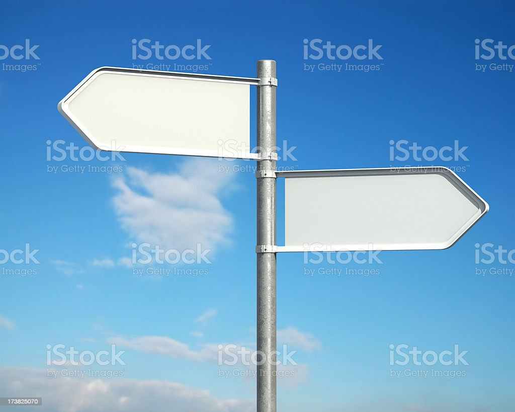 Hi-Res Blank Road Sign royalty-free stock photo