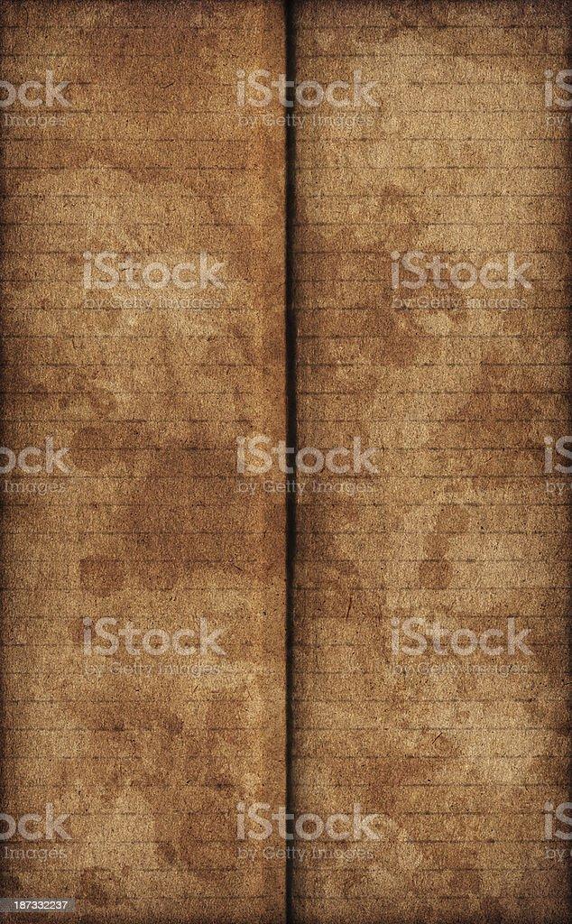 Hi-Res Brown Corrugated Cardboard Inkblotted Mottled Vignette Grunge Texture royalty-free stock photo