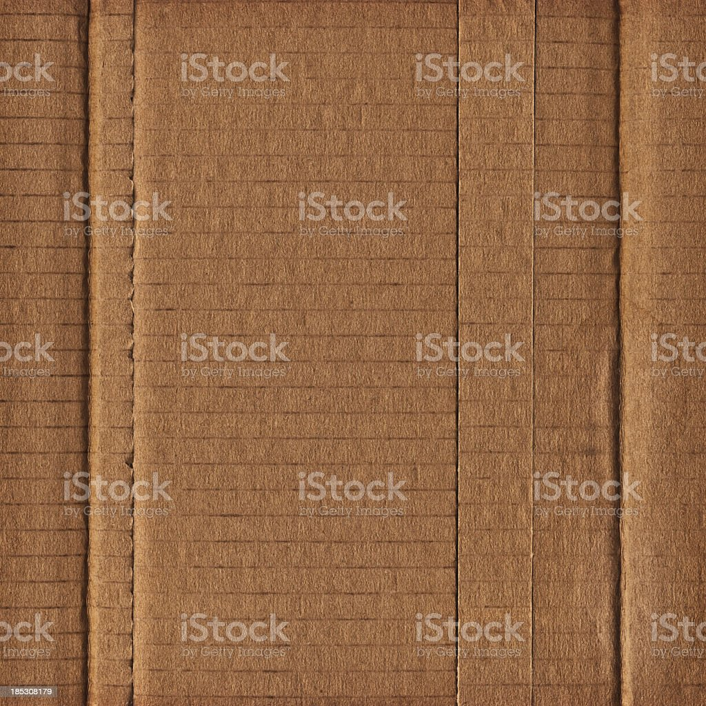 Hi-Res Brown Corrugated Cardboard Patchwork Assemblage Bundle Grunge Texture royalty-free stock photo