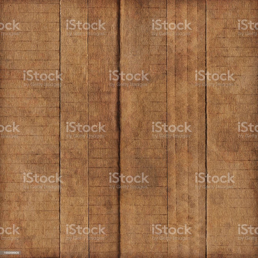 Hi-Res Brown Corrugated Cardboard Patchwork Assemblage Bundle Stained Grunge Texture royalty-free stock photo