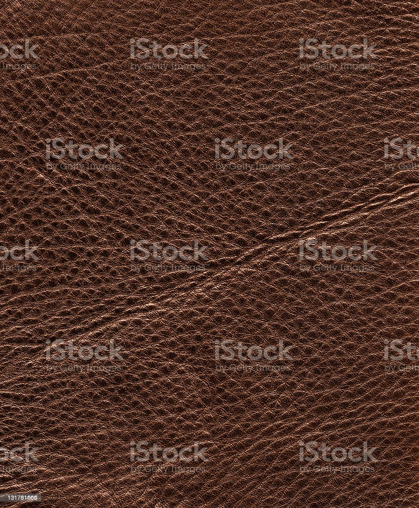 Hi-res brown leather royalty-free stock photo