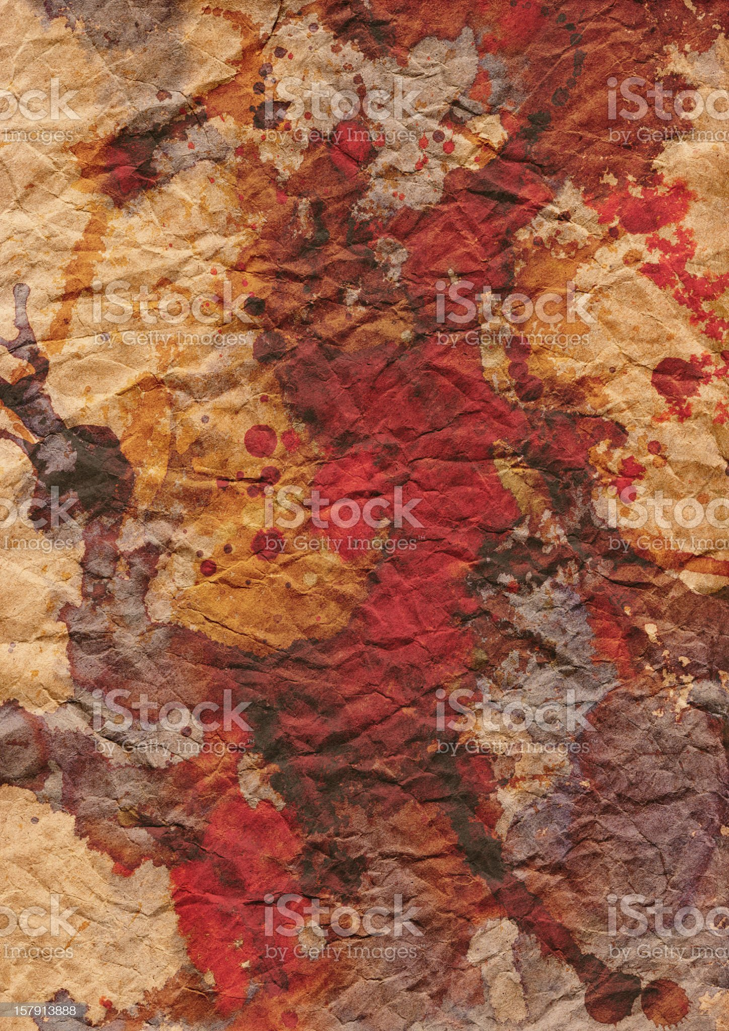 Hi-Res Brown Wrapping Kraft Paper Crumpled Multicolored Mottled Grunge Texture royalty-free stock photo