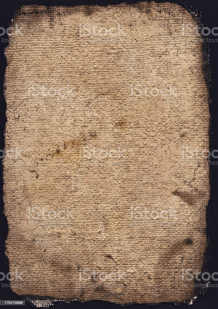 Hi-Res Burnt Primed Coarse Grain Jute Canvas Grunge Texture royalty-free stock photo