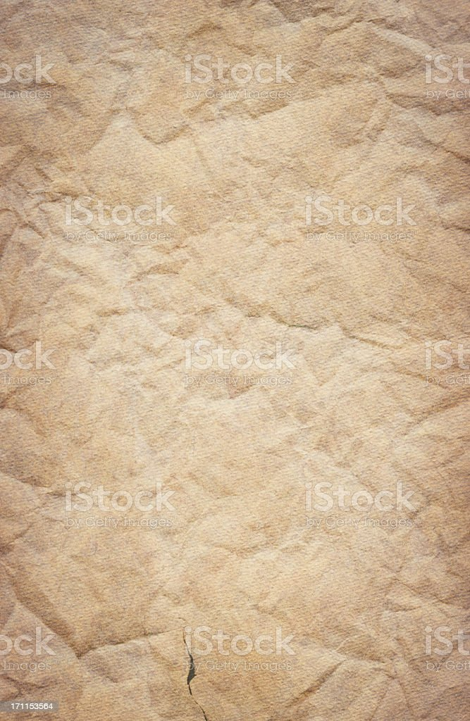 Hi-Res Card Stock Watercolor Paper Blank Crushed Vignetted Grunge Texture royalty-free stock photo