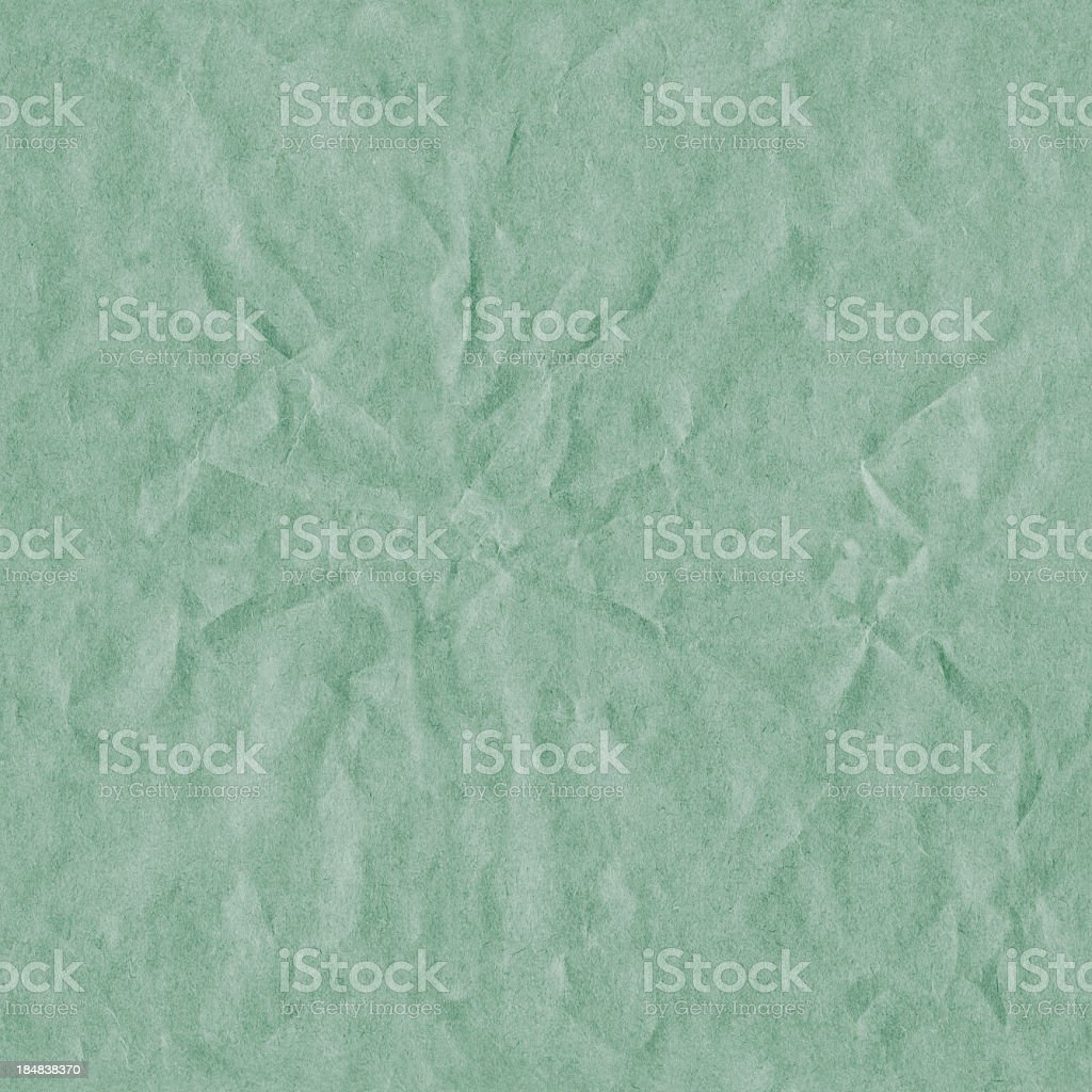 Hi-Res Crushed Recycle Green Paper Seamless Texture Tile royalty-free stock photo