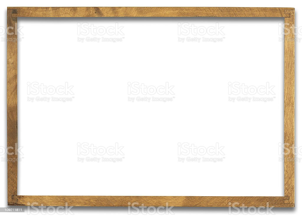 Hi-res frame with clipping path on white background stock photo