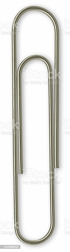 Hi-res isolated paper clip with clipping path on white background royalty-free stock photo