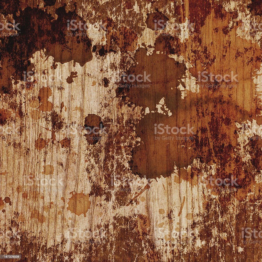 Hi-Res Natural Pine Wood Veneer Sepia Stained Grunge Texture royalty-free stock photo