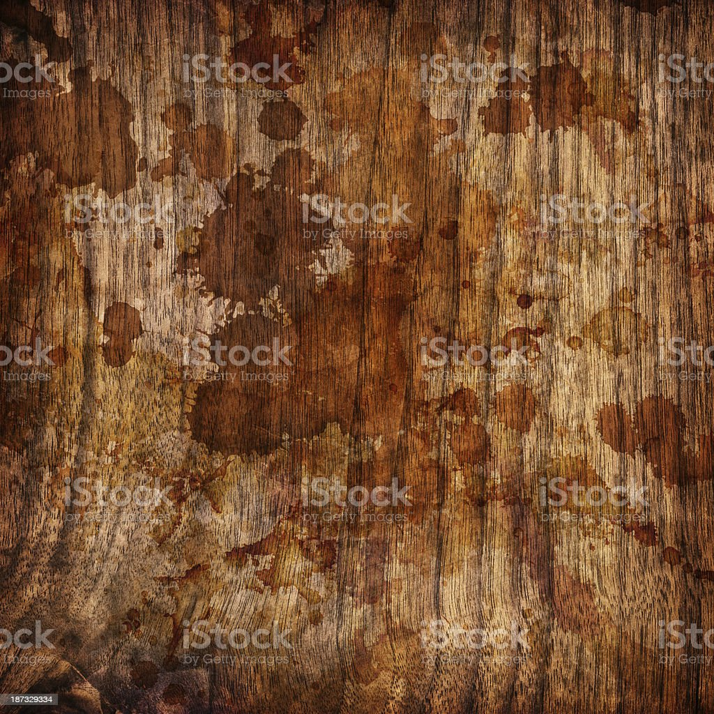 Hi-Res Natural Walnut Wood Veneer Dappled Vignette Grunge Texture royalty-free stock photo
