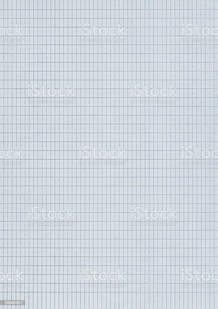Hi-Res Notebook Blue Checkered Graph Paper Background royalty-free stock photo