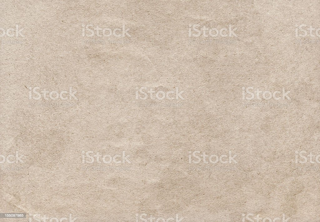 Hi-Res Old Beige Recycle Paper Coarse Crumpled Grunge Texture royalty-free stock photo