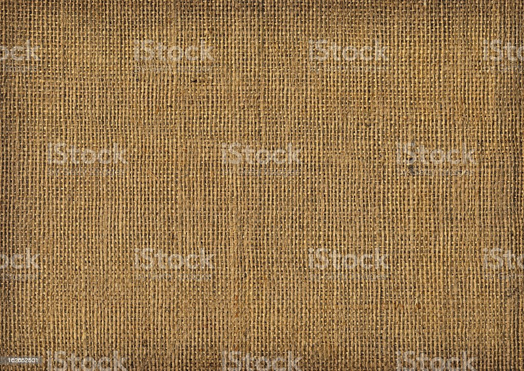 Hi-Res Old Burlap Canvas Vignette Grunge Texture royalty-free stock photo